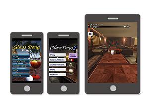 スマートフォン・タブレット向け「Glass Pong」シリーズの運営_サイト